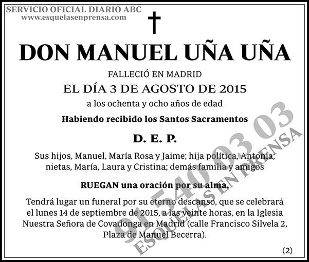 Manuel Uña Uña